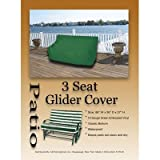 LB International Durable Outdoor Patio Vinyl 3-Seat Glider Chair Cover - Green