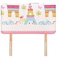 Ready Steady Bed Paris Design Children's Single Headboard 3ft Bed Size Foam Upholstered