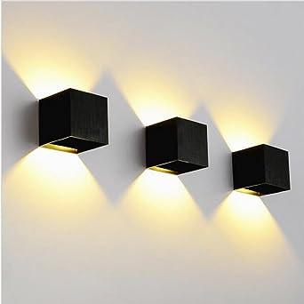 K Bright 12W Wandleuchte Aluminiumgehäuse Modernes Design  Haus Nachtlicht/Warmweiß Led Innen Außen