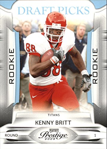 2009 Playoff Prestige Draft Picks Light Blue #161 Kenny Britt /999 - Football Card