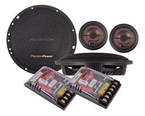 - Precision Power PH2.65S 6.5-Inch 2-Way Phantom Series Component Car Audio Speaker System, Set of 2