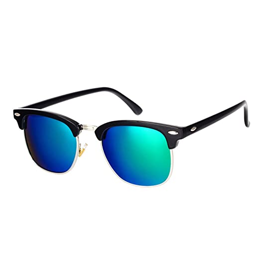 2196cd28e4b Amazon.com  Pro Acme Classic Semi Rimless Polarized Sunglasses with ...