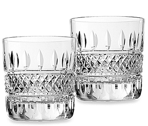 Waterford Irish Lace Double Old Fashioned Tumblers Set of Two Glasses New In Box