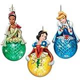 Disney Princess Sparkling Dreams Christmas Ornament Set by The Bradford Exchange