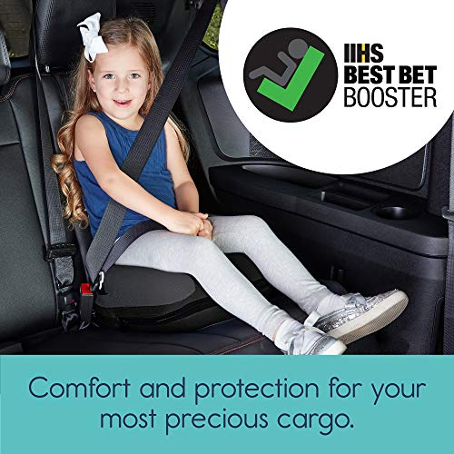 51EFLVkJ 2L - Hiccapop UberBoost Inflatable Booster Car Seat | Blow Up Narrow Backless Booster Car Seat For Travel | Portable Booster Seat For Toddlers, Kids, Child | Black/Gray