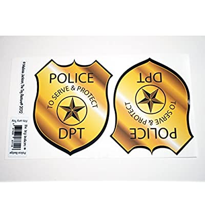 The Toy Restore Police Badge Replacement Decals Stickers Fits Little Tikes Cozy Coupe: Toys & Games