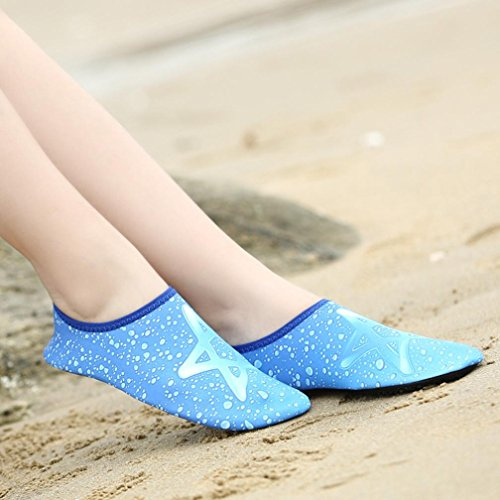 Swiming Driving Women Aqua Barefoot Fineser Lightweight Shoes Boating Dry Blue Quick Men Beach Yoga For Socks Lake Water PtwwFf8qZ