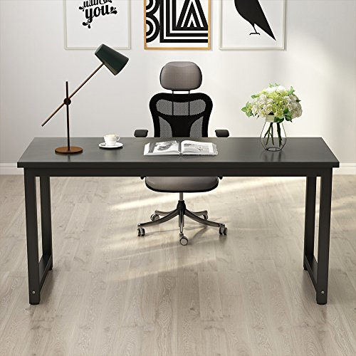 Tribesigns Modern Computer Desk, 63'' Large Office Desk Computer Table Study Writing Desk for Home Office, Black Metal Frame by Tribesigns (Image #3)
