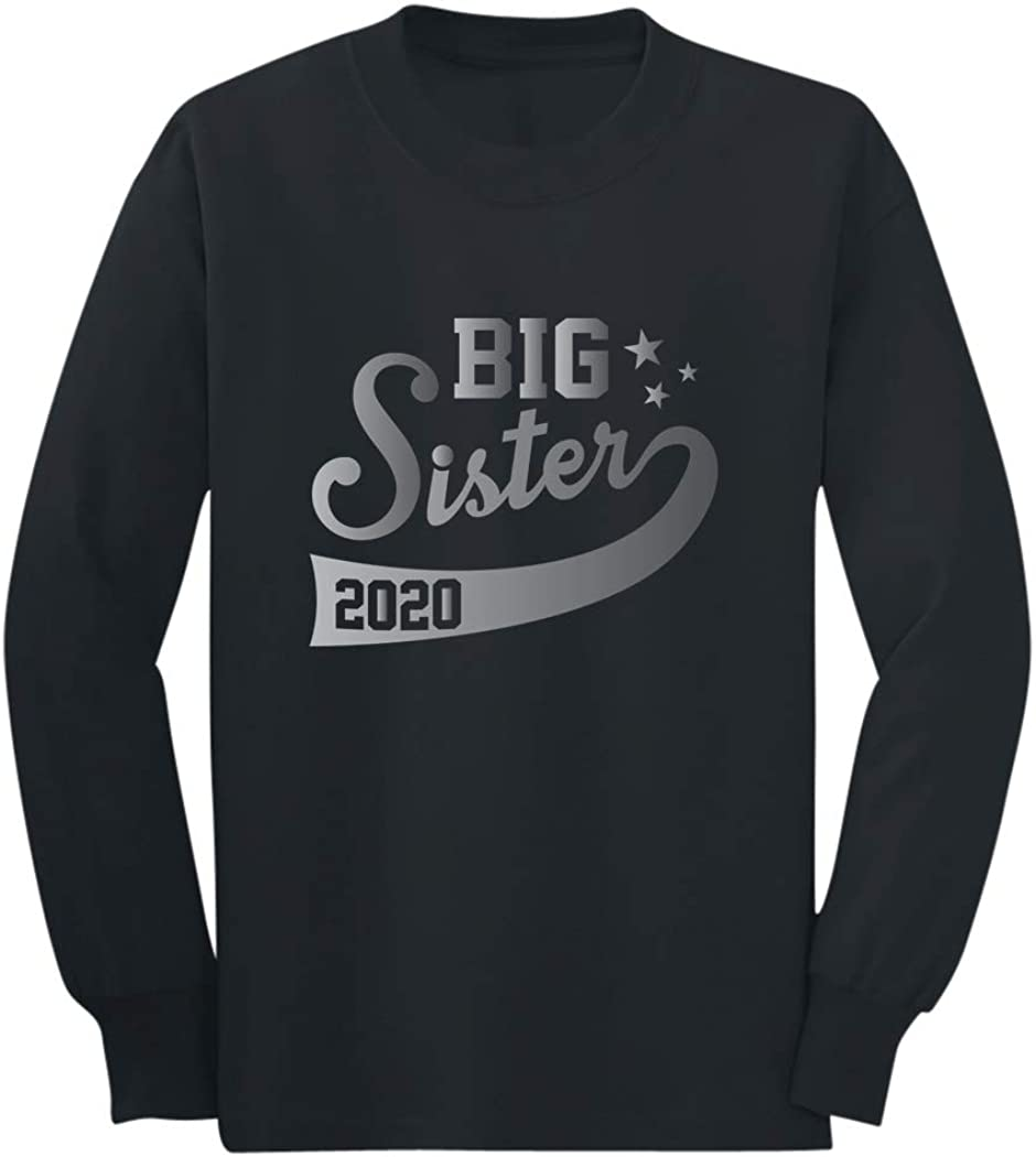 Big Sister Est 2020 Outfit Sibling Gift Idea Youth Kids Long Sleeve T-Shirt