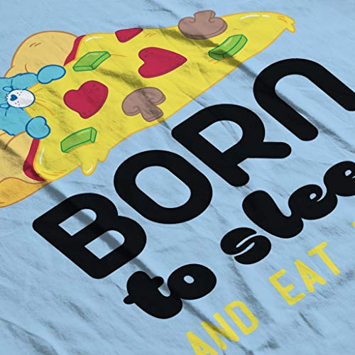 Care Bears Bedtime Bear Born To Sleep and Eat Pizza Women's T-Shirt