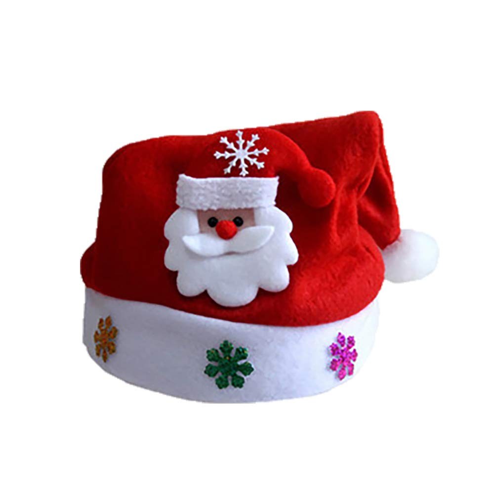 Unisex Santa Hat Plush Red...