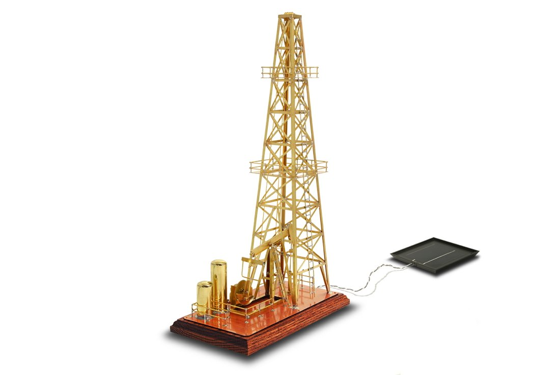 Solarts Oil Derrick OD-8 - Solar Powered Model/Executive Gift by Solar Made