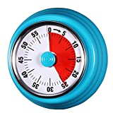 AIMILAR Magnetic Mechanical Timer 60 Minute Visual Kitchen Countdown Timer With Alarm for Cooking Baking Sports Kid (Blue)