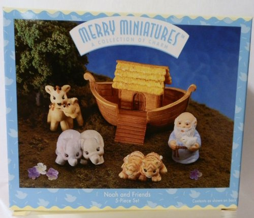 Hallmark Merry Miniatures Noah and Friends 5 Piece Set