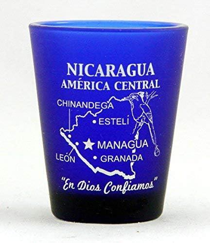 Nicaragua Central America Cobalt Blue Shot Glass by World By Shotglass: Amazon.es: Hogar