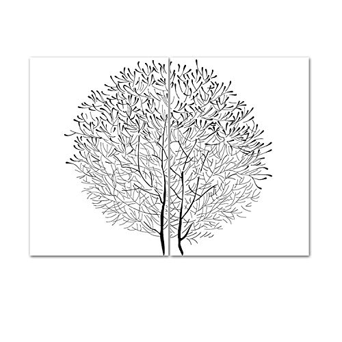 Wall Canvas Dandelion Abstract Sketch Wall Art Black&White Canvas Painting Vintage Posters and Prints Nordic Living Room Modern Home Decor Mural,21Cmx30Cm A4No Frame,Now1431-Now