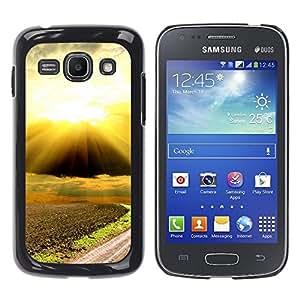 TopCaseStore / la caja del caucho duro de la cubierta de protección de la piel - Nature Beautiful Forrest Green 88 - Samsung Galaxy Ace 3 GT-S7270 GT-S7275 GT-S7272