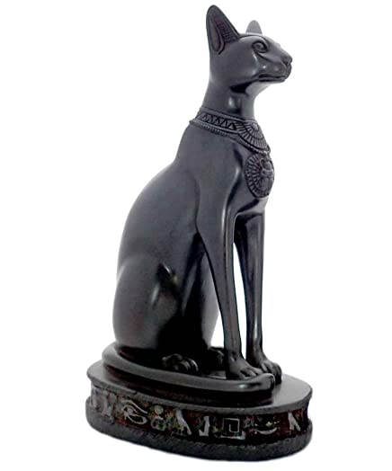 Discoveries Egyptian Imports Bastet Cat Goddess Statue – Black – 13 Tall – Made in Egypt