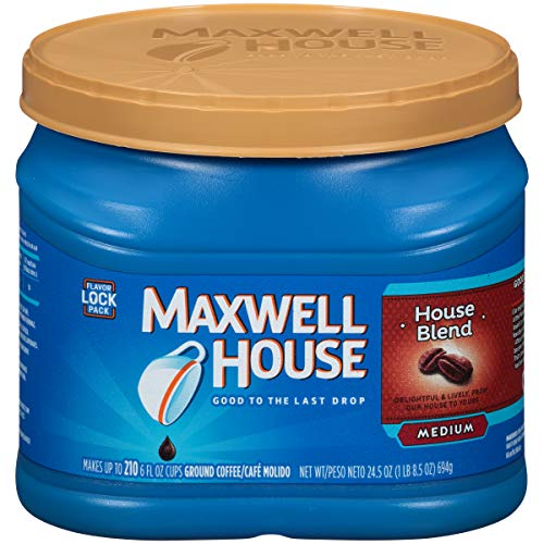 Maxwell House House Blend Ground Coffee, 24.5 oz Canister