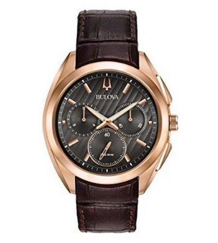 [ブローバ]BULOVA メンズ Curv カーブ クロノグラフ グレー文字盤 ブラウン レザー 97A124 腕時計[並行輸入品] B01N91DUEY