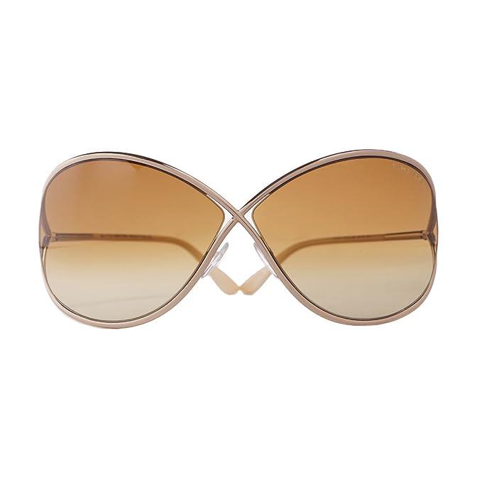 b584480537d Tom Ford Miranda FT0130 Sunglasses - 28F Shiny Rose Gold (Gradient Brown  Lens) - 68mm  Amazon.ca  Clothing   Accessories