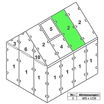"""Extremely Zelsius - 6 mm Hohlkammerstegplatte """"#2"""" (113 x 60,5 x 0,6 cm) für  MF23"""