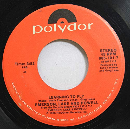 EMERSON, LAKE AND POWELL 45 RPM LEARNING TO FLY / TOUCH & GO