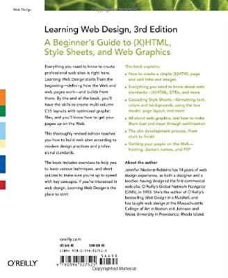 Learning Web Design: A Beginner's Guide to (X)HTML, StyleSheets, and Web Graphics by O'Reilly Media