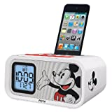 Mickey Mouse Dual Alarm Clock and 30-pin iPod Speaker Dock (DY-H22)