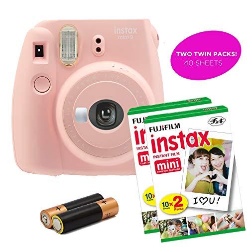 Certified Amazing – Instax Mini 9 & Instax Mini 7S Instant Camera Product Bundles | Film Pack Options | Renewed (Mini 9 + 2 Film Packs, Rose Quartz)