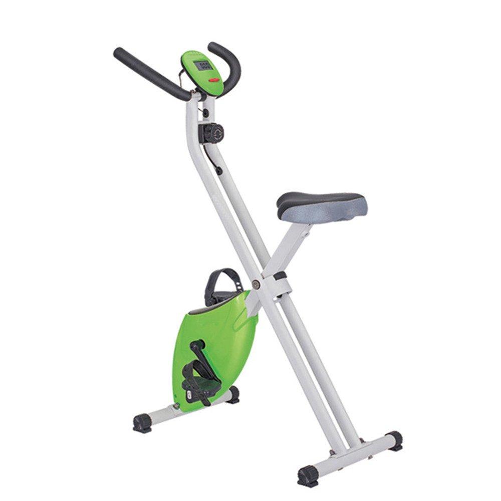 トレーニングエアロバイク 自転車文房具、超静音直立型ホーム磁気制御回転自転車屋内スポーツ自転車フィットネス機器エクササイズバイク (色 : 緑)   B07Q2KTWPJ