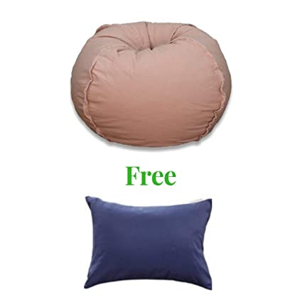 Enjoyable Bean Bag Chair Soft And Comfortable Dusty Pink Large Caraccident5 Cool Chair Designs And Ideas Caraccident5Info