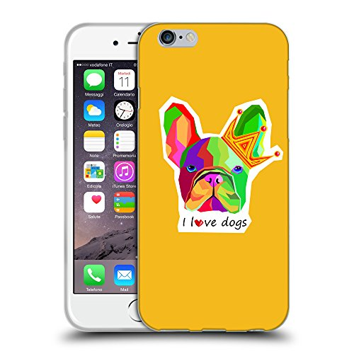 GoGoMobile Coque de Protection TPU Silicone Case pour // Q05090602 Mignon bouledogue ambre // Apple iPhone 7