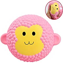 Slow Rising Jumbo Squishies Soft Scented Stress Relieve Squishy Cute Animal Squeeze Toy,Monkey