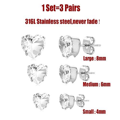 U7 Jewelry Stainless Earrings Piercing