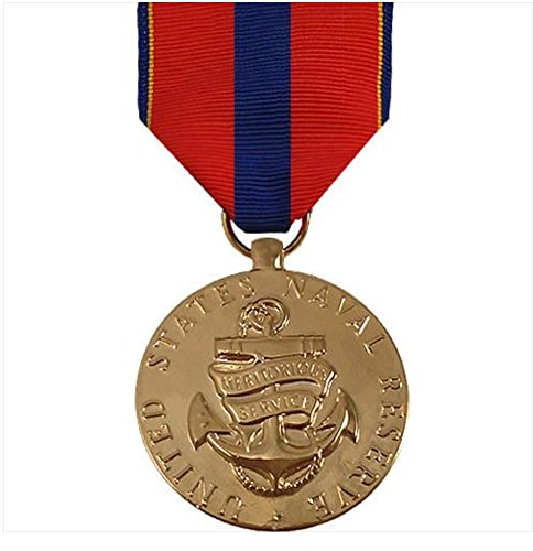 (Vanguard Full Size Medal: Navy Reserve MERITORIOUS Service - 24K Gold Plated)