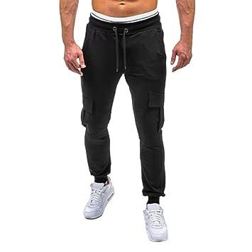 Amlaiworld_ Pantalones Hombre chandal Pantalones deportivos holgados deportivo elásticos casuales Pantalones de Deporte… F9Y9nmk