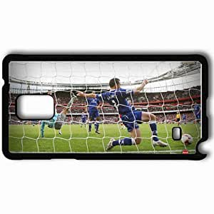 Personalized Samsung Note 4 Cell phone Case/Cover Skin A Headed Goal By RVP Arsenal Football Black by lolosakes