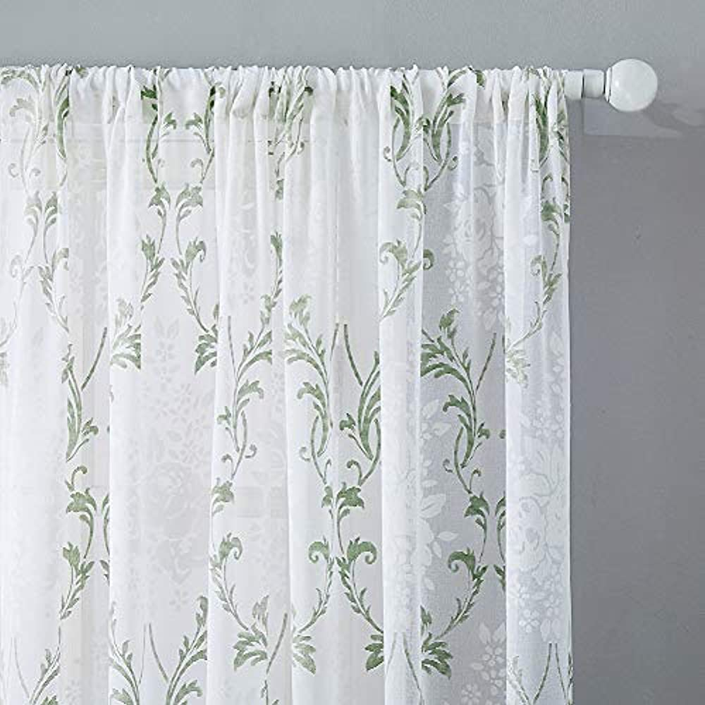Sheer Tiers Curtain Cafe Curtains 36 Inches Long Kitchen