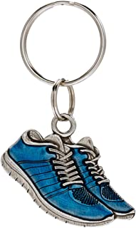 product image for DANFORTH - Running Shoe Keyring - Pewter - Handcrafted - Blue - Made in USA