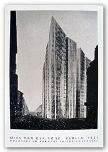 "Berlin, 1921-Hochhaus am Banhoff by Mies van Der Rohe 32.75""x24.5"" Art Print Poster"