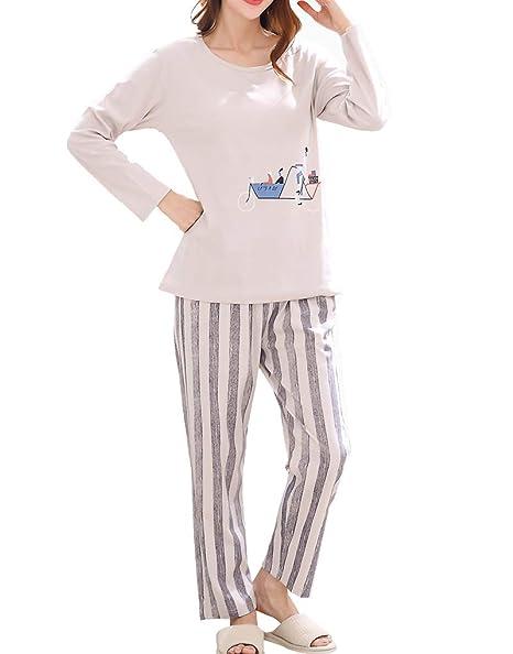 4fd4d8f82e13 Amazon.com  Vopmocld Young Girls Pajama Striped Printed Nighty Comfy ...
