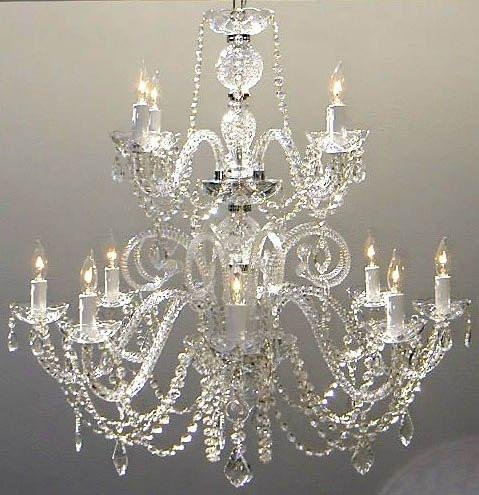 Petite French Chandelier with Swarovski Crystal H30