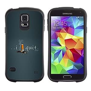 "Pulsar iFace Series Tpu silicona Carcasa Funda Case para Samsung Galaxy S5 , Dejar de fumar cigarrillos I Ayuda Motivar"""