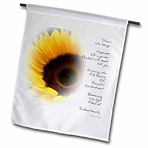 Patricia Sanders Flowers - Sunflower Dream Poem- Inspirational Poetry- Flowers - 18 x 27 inch Garden Flag (fl_36148_2)