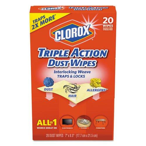 Tilex 31313 CTトリプルアクションDust Wipes、ホワイト – 8.5 X 7 In。   B01GP0P594