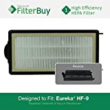 60285 eureka - Eureka HF-9 (HF9) HEPA Replacement Filter, Part #'s 60951, 60951A, 60951B, 60285. Designed by FilterBuy to fit Eureka Victory Upright Vacuum Cleaners.
