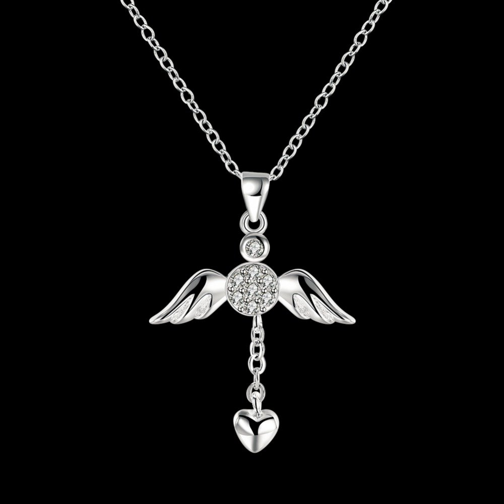 Silver I Love Jesus Cross Heart Necklace Pendant Chain,Jewelry with a Luxury Gift Bag for Easy Gift Giving Womans Necklace Birthday Gifts For Women Gifts For Girls .925 Sterling Silver by Azelias Jewelry (Image #2)