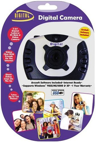 Digital Concepts Gear-to-Go Cyber Pix 3-in-1 Digital, PC-Web & Video Camera (Color May Vary) ()