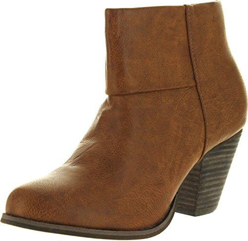 Reneeze Womens Baba-03 Fashion Comfy Stacked Chunky Heel Sid
